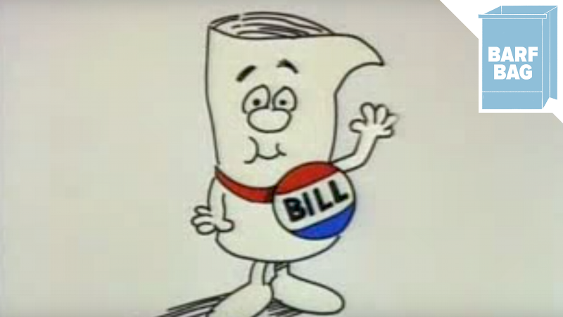 Image of a lonely bill via YouTube.
