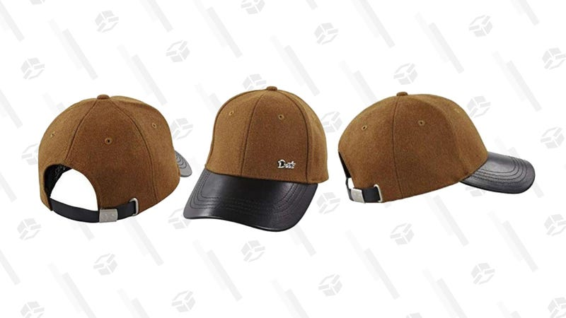 Deets Fashion Leather & Cashmere Baseball Cap | $19 | Daily Steals | Use code KJCAP