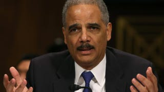 Attorney General Eric Holder testifies during a hearing on Jan. 29, 2014, in Washington, D.C. Mark Wilson/Getty Images