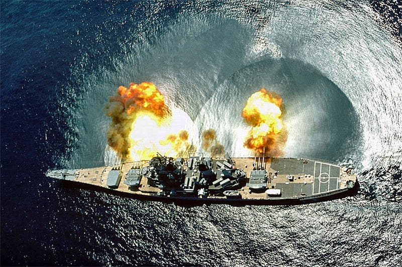 Illustration for article titled Battleships Pulled Off The Biggest Ruse Of Operation Desert Storm 25 Years Ago