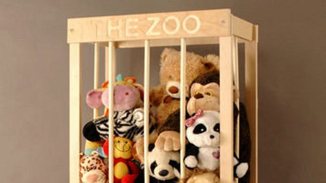 Build A Wooden Cage To Corral Stuffed Animals