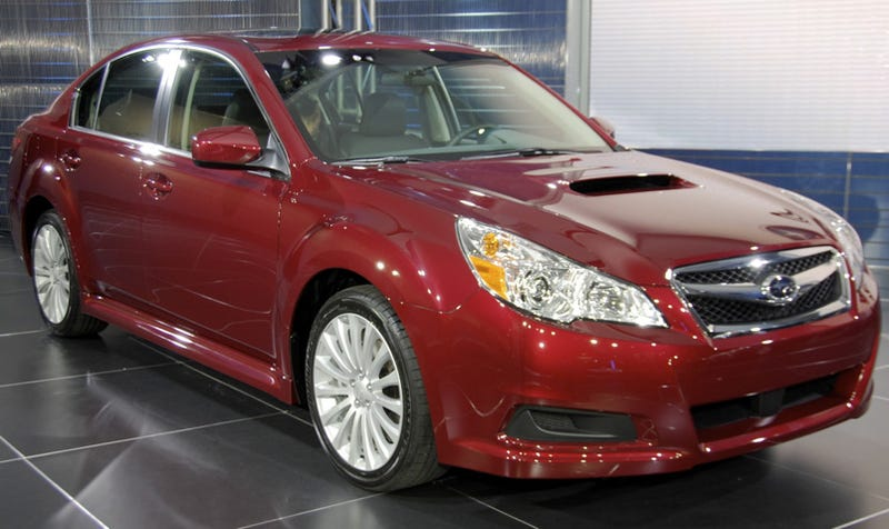 2010 subaru legacy more curves more power. Black Bedroom Furniture Sets. Home Design Ideas