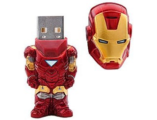 Illustration for article titled Iron Man USB Jump Drive: 4GB of Tiny Tony Stark Storage
