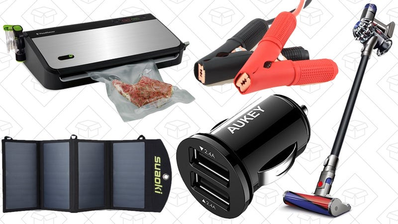 Illustration for article titled Today's Best Deals: Your Favorite Car Charger, Discounted Food Saver, Dyson V6, and More