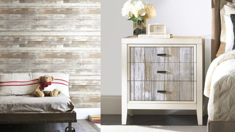 Distressed Wood Wallpaper | $21 | Amazon