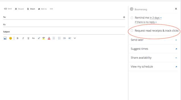 Boomerang for Outlook Releases Read Receipts, Desktop Calendar Integration