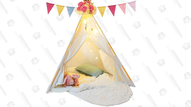 Tazz Toys Kids Teepee Tent with Fairy Lights | $55 | Amazon | Clip $10 Coupon
