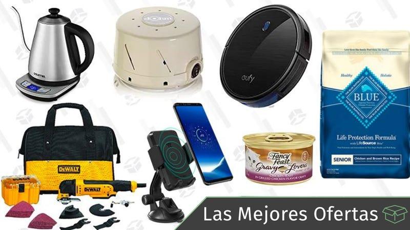 Illustration for article titled Las mejores ofertas de este viernes: Comida para mascotas, máquina de ruido blanco, cargador inalámbrico para el coche y más