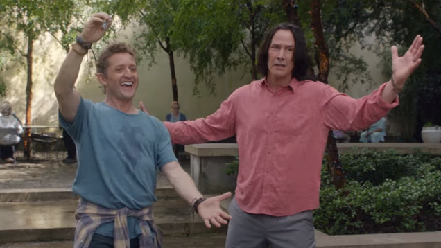 Bill & Ted Face The Music s New Trailer Brings the Best Kind of Time Travel Nonsense