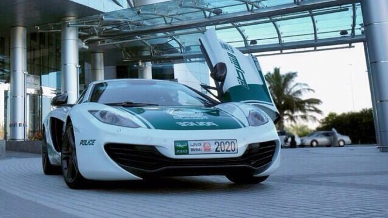 Illustration for article titled The Dubai Police Have A McLaren MP4-12C Now, So That's Good