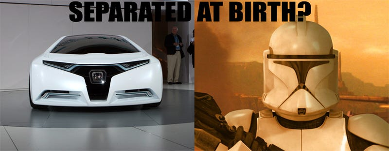 Illustration for article titled Separated At Birth: Honda FC Concept Vs. Star Wars Clone Trooper