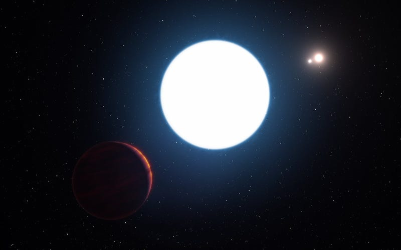 Artist's impression of planet in the HD 131399 system. Image: ESO/L. Calçada