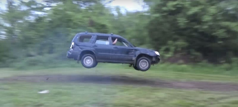 Illustration for article titled How Tough Is A Subaru Forester? Watch This Guy Try To Find Out