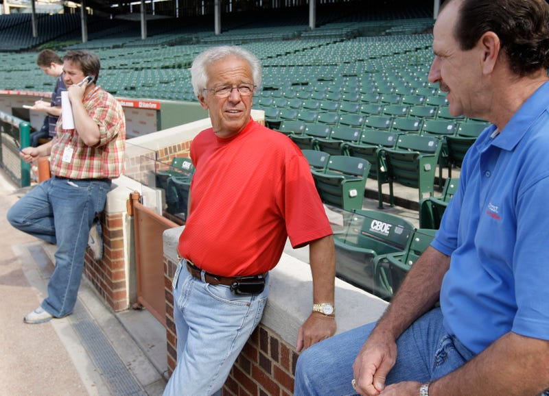"""Illustration for article titled The Reds Won 10 In A Row, So Now Marty Brennaman Has To Shave His Head """"Like A Baby Nutsack"""""""