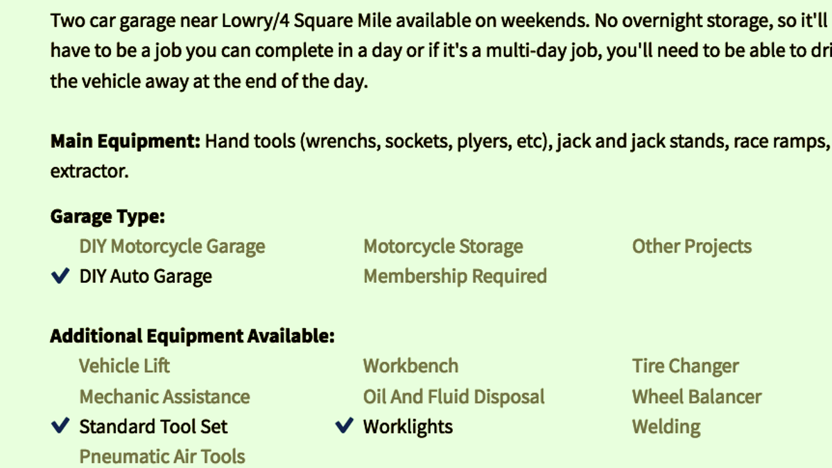 This airbnb for diy garage space lets you wrench in random this airbnb for diy garage space lets you wrench in random peoples garages solutioingenieria Choice Image
