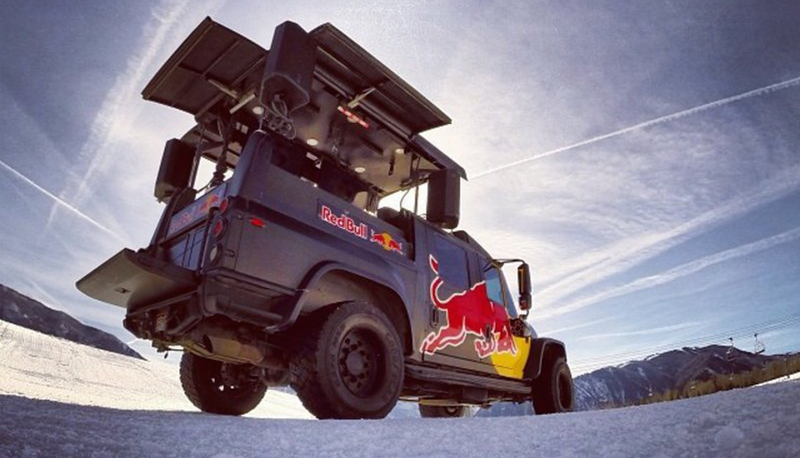 Illustration for article titled Red Bull Has A New Fleet Of Totally Extreme Party Trucks Bro