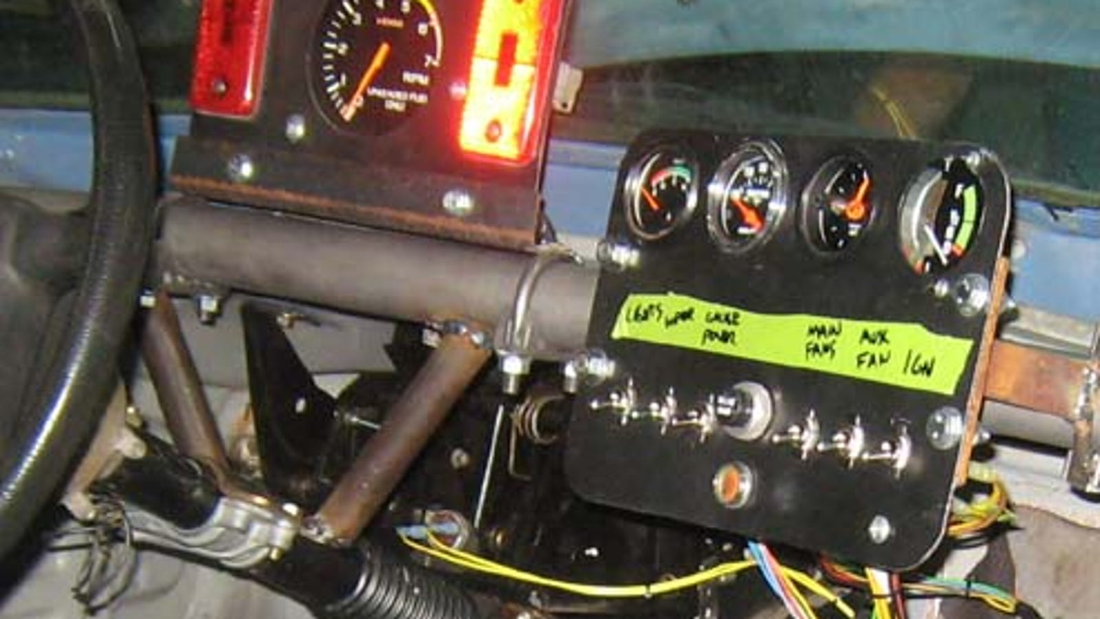 Welcome To Low Budget Race Car Wiring Hell Vdo Auto Gauge Tach