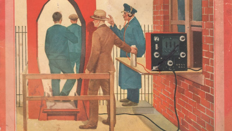 Illustration for article titled Walk-Through Metal Detectors Were Invented to Catch Thieving Employees