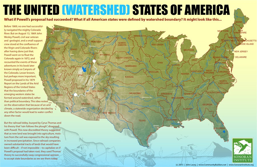 A map of what the state boundaries in the US might have been