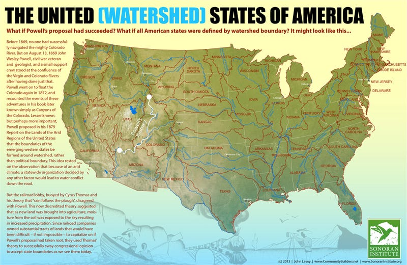 A Map Of What The State Boundaries In The US Might Have Been - American state maps