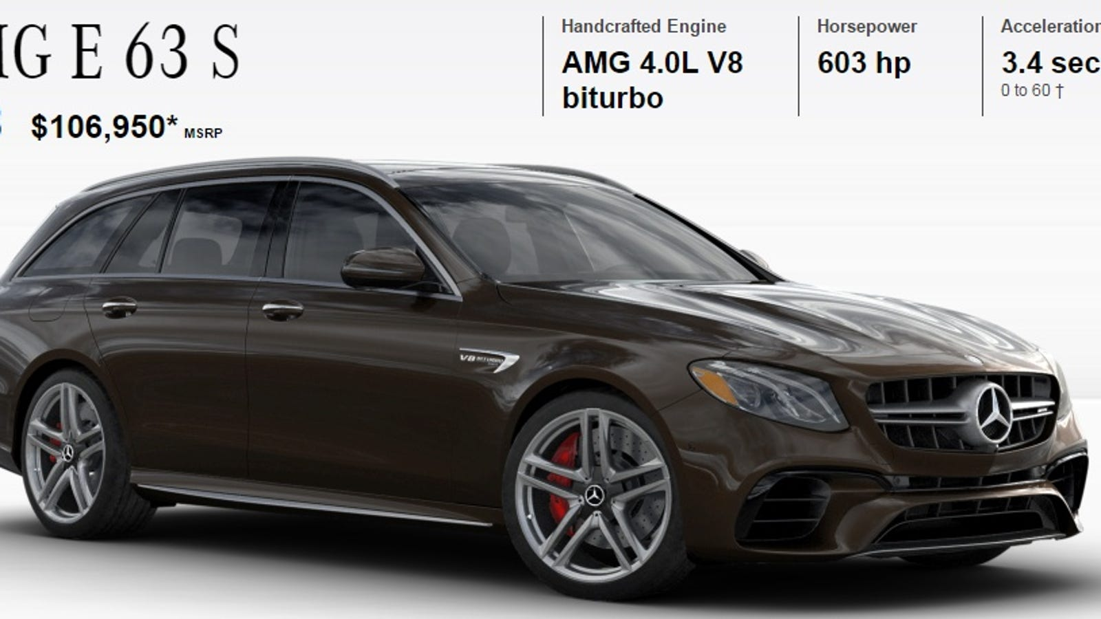 How Would You Configure Your 603 Hp Mercedes Amg E63 S Wagon