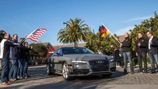 Illustration for article titled Audi Lets Its Self-Driving Car Loose On Trip From SF To Vegas