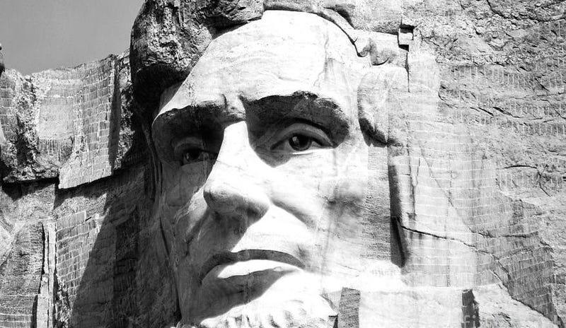 La figura de Lincoln en Monte Rushmore