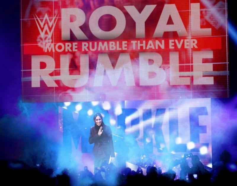 Illustration for article titled Meghan Markle Makes Stunning Surprise Entrance At Royal Rumble