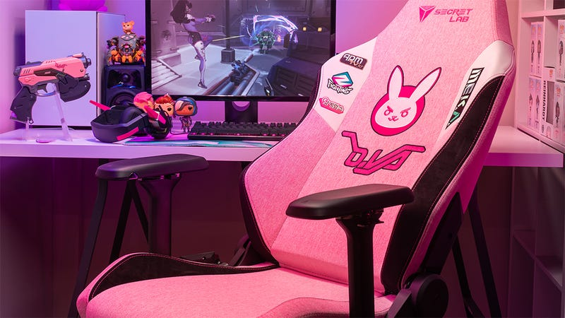 Illustration for article titled The Overwatch D.Va Gaming Chair Makes Me Wish I Still Sat In Gaming Chairs