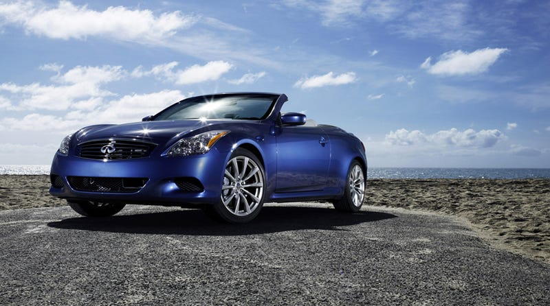 2009 infiniti g37 convertible revealed the 2009 infiniti g37 convertible will add the style of a hard top convertible to the venerable g series line the new drop top infiniti is essentially an sciox Images