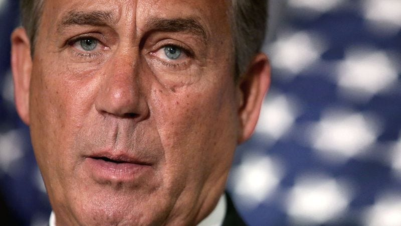 Illustration for article titled Nation Could Probably Draw John Boehner From Memory At This Point