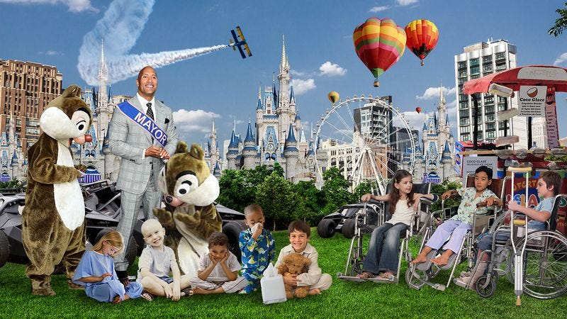 Illustration for article titled Dream Come True! The Make-A-Wish Foundation Built A City To House All Terminally Ill Children