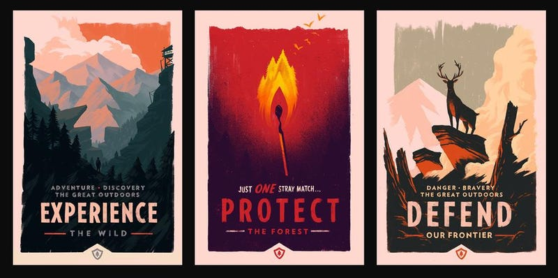 Illustration for article titled Olly Moss Releases Three Breathtaking Wilderness Posters