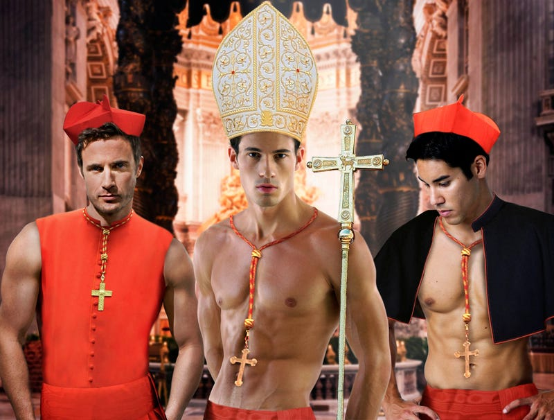 Illustration for article titled Group Of Hunky Cardinals Appeal To Pope To Relax Celibacy Requirement