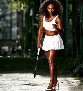Serena Williams posing for the Harper's Bazaar shootSerena Williams via Instagram