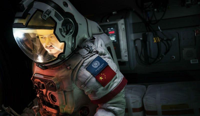 Jing Wu as Liu Peiqiang in The Wandering Earth.