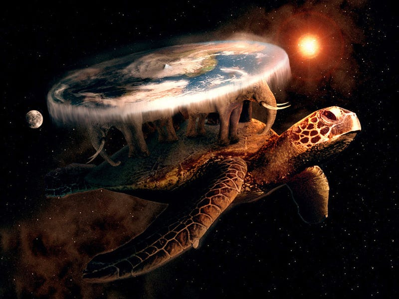 Illustration for article titled The Science Behind Discworld's Flat Earth on the Back of a Turtle