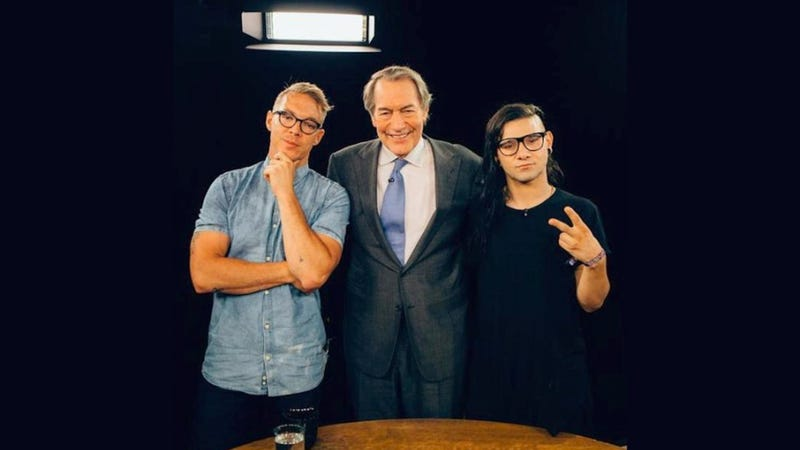 Illustration for article titled Diplo And Skrillex On Charlie Rose: A Partially Fabricated Transcript
