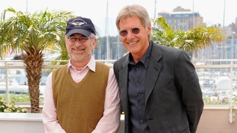 Spielberg and Ford in 2008. (Photo: Getty Images)