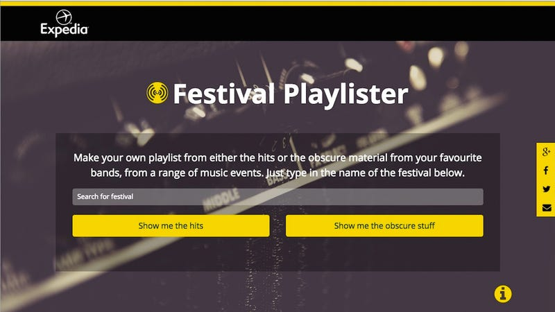 Illustration for article titled Festival Playlister Builds Spotify Playlists Based on Big Music Events