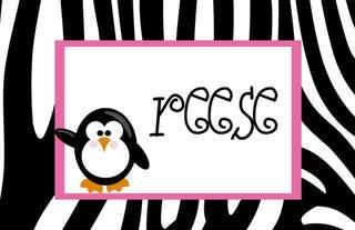 Illustration for article titled Zebra print name tags