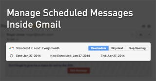 Illustration for article titled Boomerang Adds Scheduled Message Management Directly in Gmail