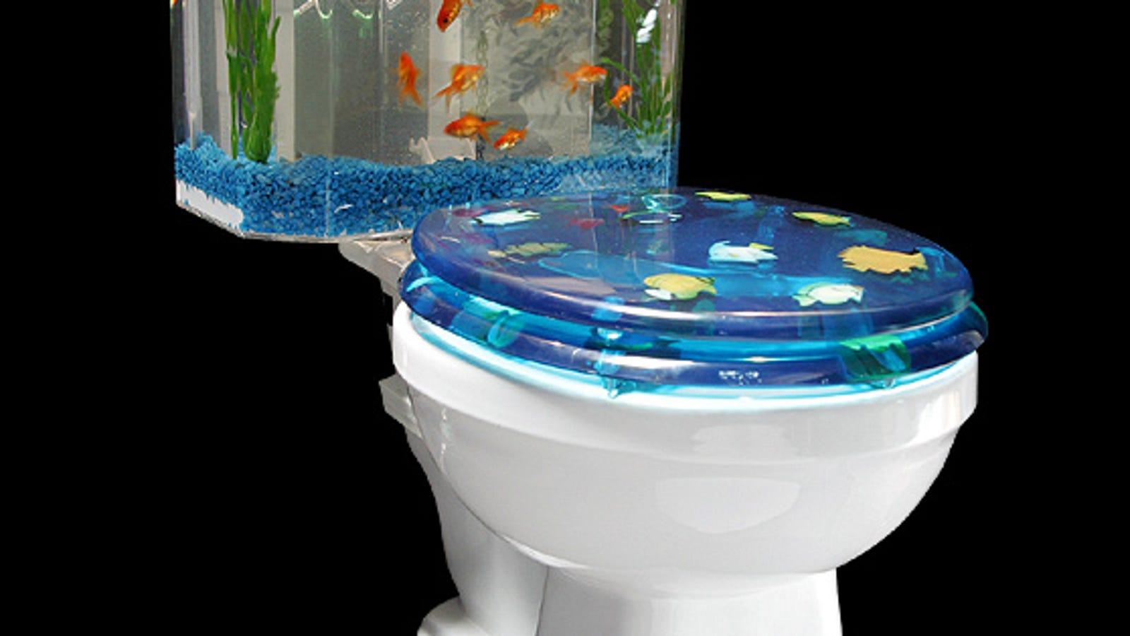 Astonishing Fish N Flush Toilet Aquarium Flushing Nemo Alphanode Cool Chair Designs And Ideas Alphanodeonline