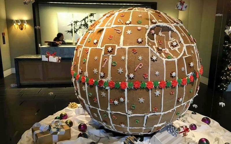 Illustration for article titled Witness the Sugar Content of This Fully-Baked and Frosted Gingerbread Death Star