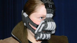 Illustration for article titled Crocheted Bane face mask keeps you warm while you're terrorizing Gotham