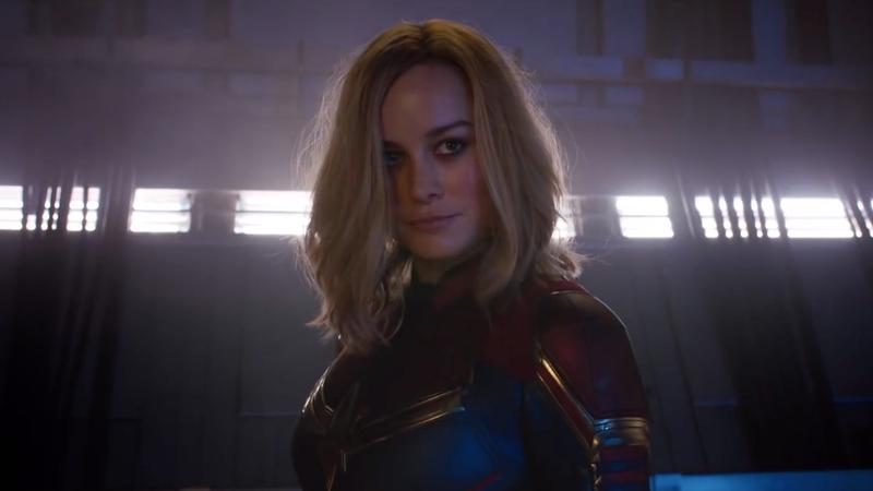 Brie Larson as Captain Marvel.