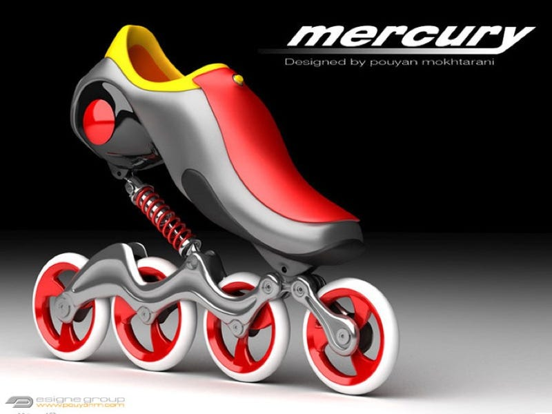 Illustration for article titled Mercury In-Line Skates Let You Glide On a Shock-Absorbed Cushion Of Air