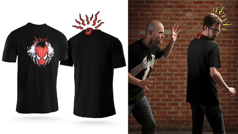 Illustration for article titled This Motion-Sensing Tingling Spidey-Sense Tee Has Got Your Back