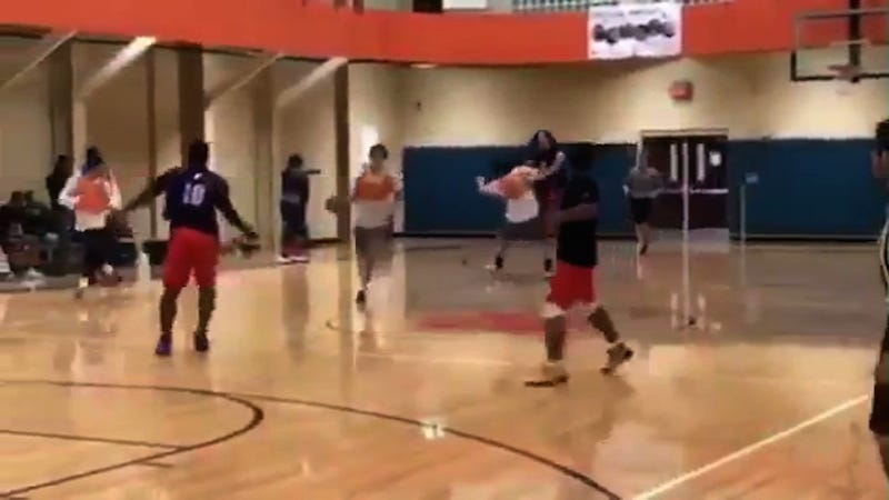 Illustration for article titled Clemson QB Trevor Lawrence Gets Decidedly Unchill During Intramural Basketball Game