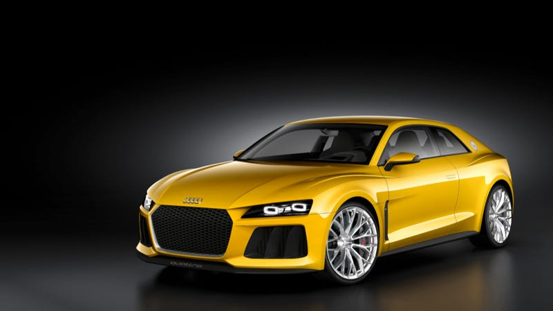 Illustration for article titled Audi Sport Quattro Concept Will Unfortunately Not Eat Your Children